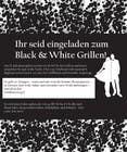 Graphic Design Kilpailutyö #13 kilpailuun Design an Invitation for a cool Black and White Party, printable