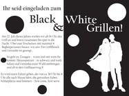 Graphic Design Kilpailutyö #16 kilpailuun Design an Invitation for a cool Black and White Party, printable