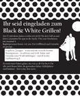 Graphic Design Kilpailutyö #17 kilpailuun Design an Invitation for a cool Black and White Party, printable