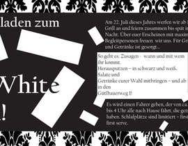 #22 for Design an Invitation for a cool Black and White Party, printable by remisv
