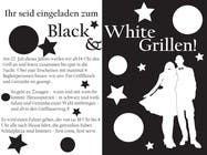 Graphic Design Kilpailutyö #25 kilpailuun Design an Invitation for a cool Black and White Party, printable