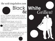 Graphic Design Kilpailutyö #27 kilpailuun Design an Invitation for a cool Black and White Party, printable