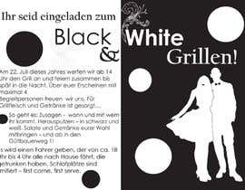 Nro 35 kilpailuun Design an Invitation for a cool Black and White Party, printable käyttäjältä remisv