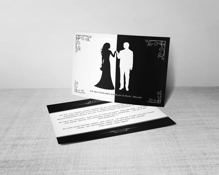 Kilpailutyö #40 kilpailussa Design an Invitation for a cool Black and White Party, printable