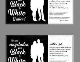 #30 for Design an Invitation for a cool Black and White Party, printable by chandrabhushan88