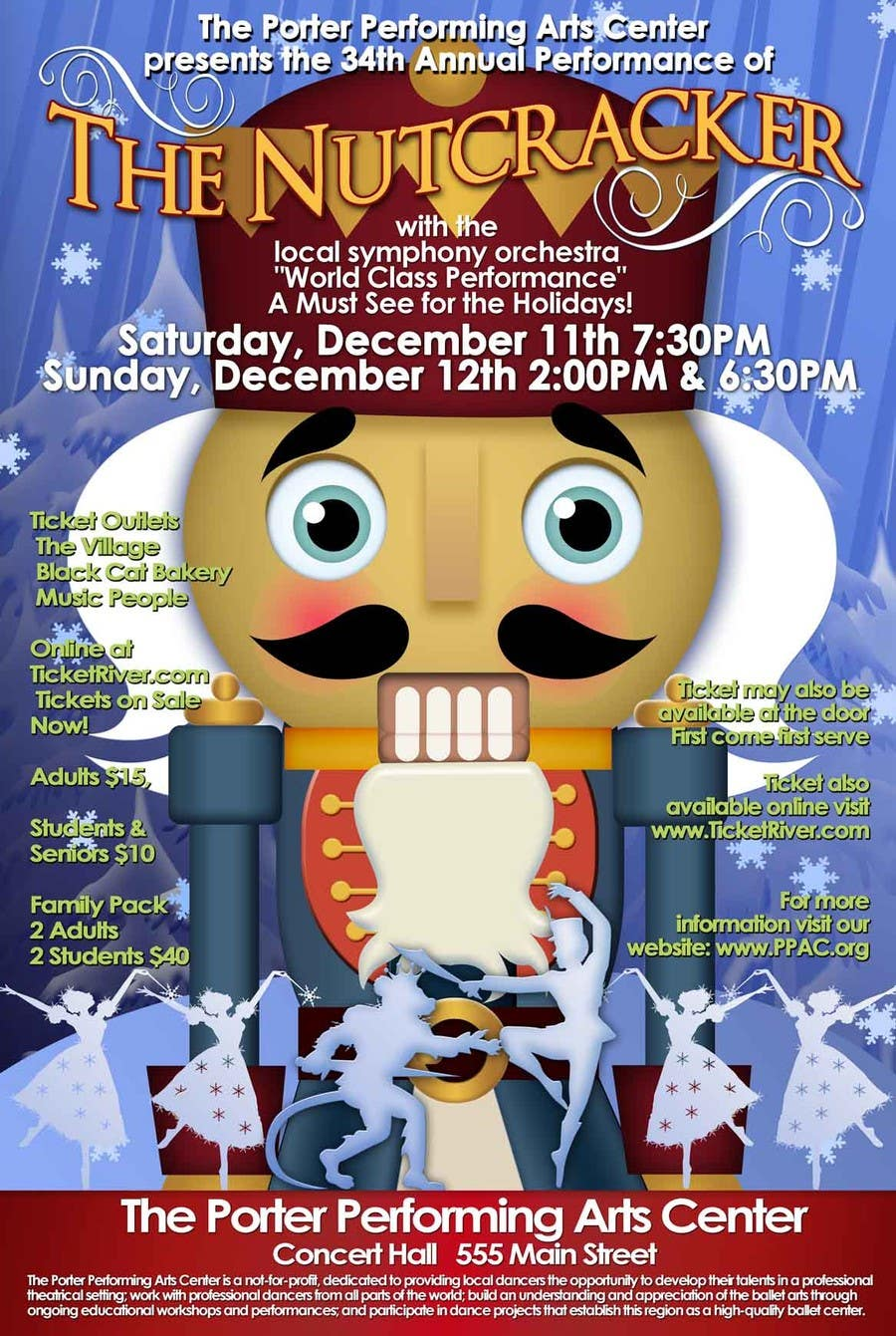 Contest Entry #                                        2                                      for                                         Graphic Design for TicketPrinting.com HOLIDAY NUTCRACKER POSTER & EVENT TICKET