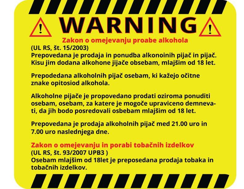 Kilpailutyö #                                        19                                      kilpailussa                                         Design a warning sign