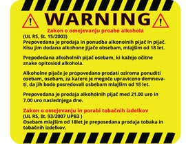 nº 19 pour Design a warning sign par GraphicShahin