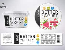 #100 for Packaging design for innovative yogurt by suthemeny