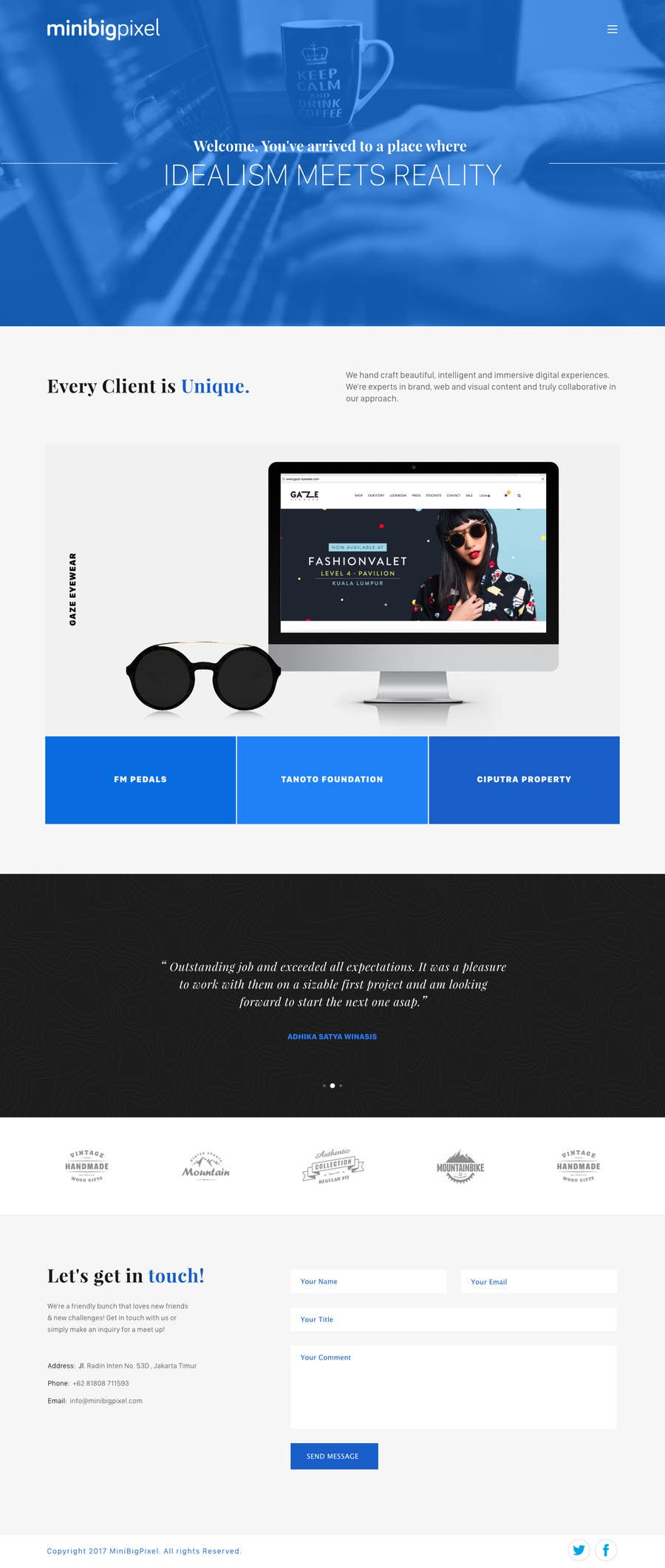 Proposition n°11 du concours 1 page psd to html