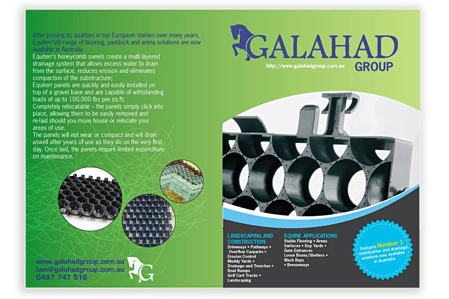 Contest Entry #                                        15                                      for                                         Brochure Design for Galahad Group Pty Ltd