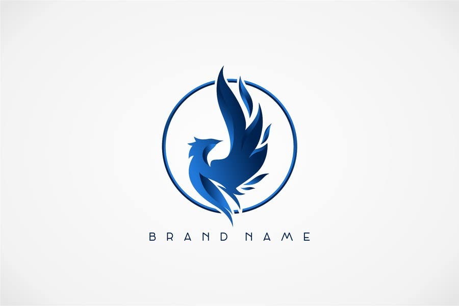 Proposition n°22 du concours I need a blue phoenix to represent my brand
