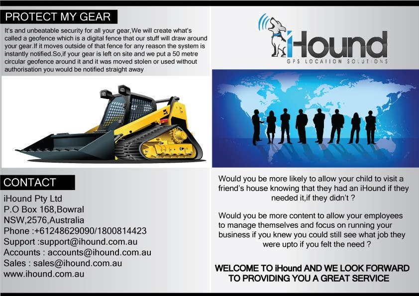 Konkurrenceindlæg #                                        17                                      for                                         Design a Brochure for iHound