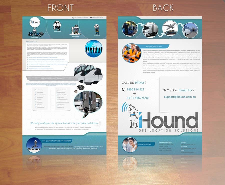 Konkurrenceindlæg #                                        21                                      for                                         Design a Brochure for iHound