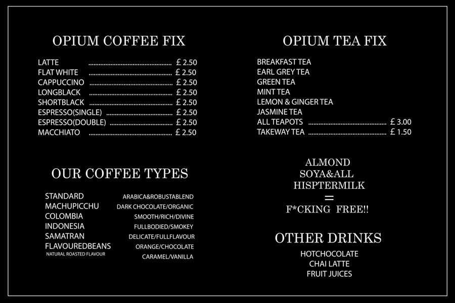 Proposition n°38 du concours Coffee Shop Menu Design