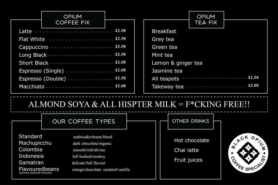 Proposition n°45 du concours Coffee Shop Menu Design