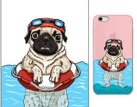 #5 for Swimming Pug Illustration Required by E1matheus