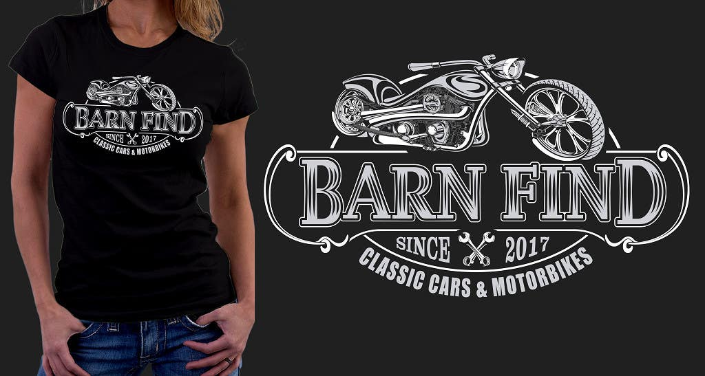 Proposition n°12 du concours t-shirt design for classic car and motorcycle restoration brand