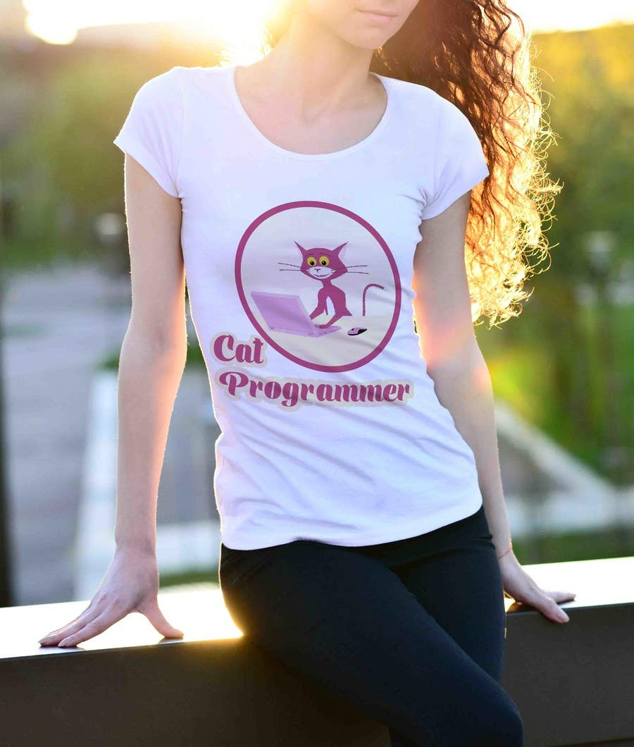 entry 19 by designbuzz99 for t shirt design cat programmer