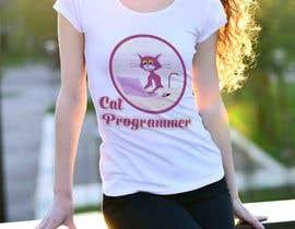 "#19 for T-shirt design ""Cat-programmer"" by DesignBuzz99"