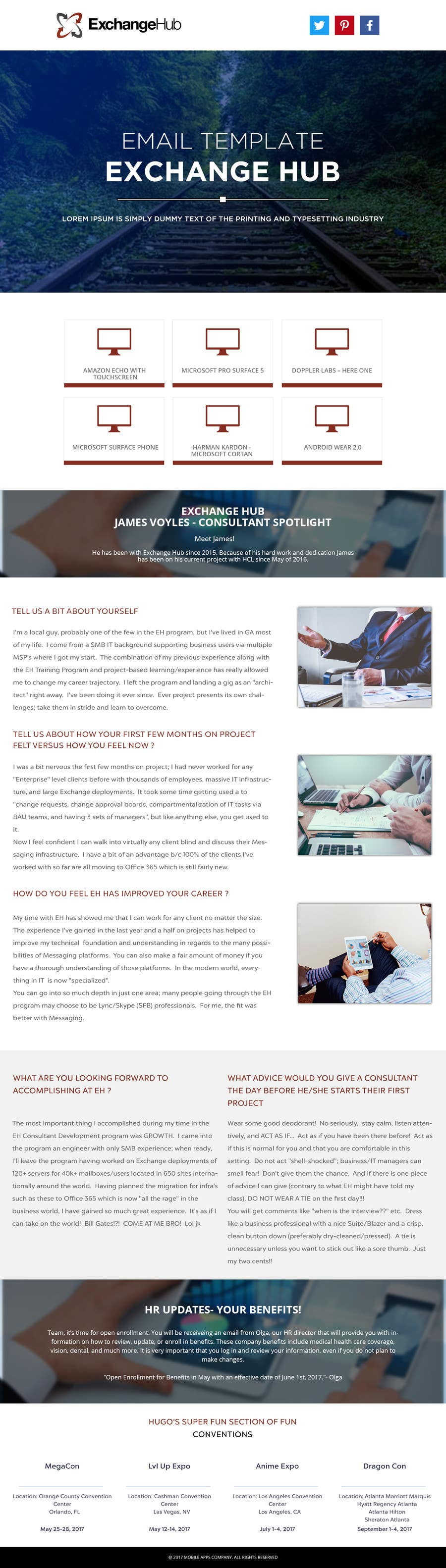 Proposition n°13 du concours Design an HTML-responsive Company Newsletter