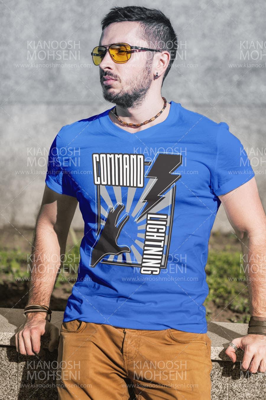 Kilpailutyö #                                        13                                      kilpailussa                                         Design a T-Shirt_command lightning