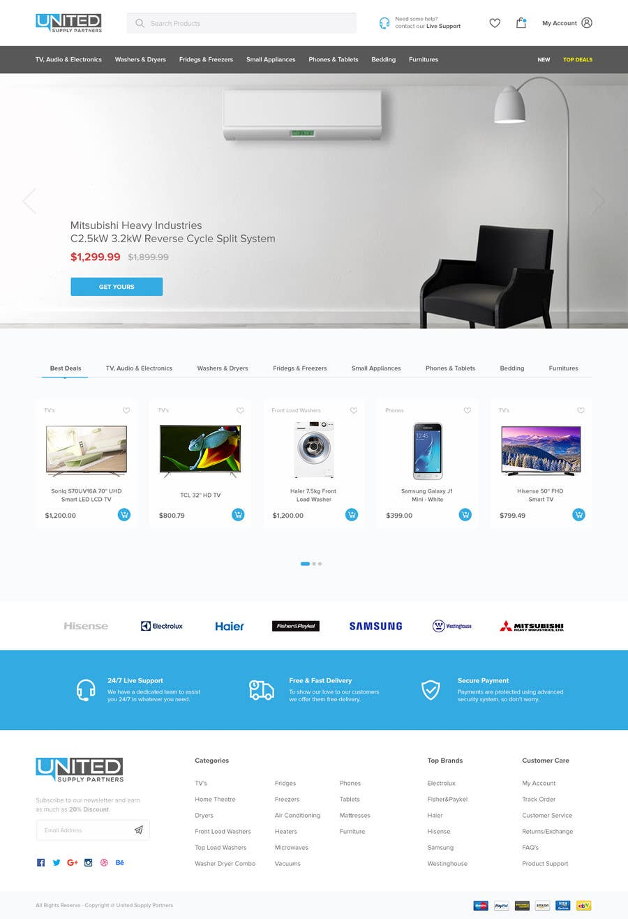 Proposition n°38 du concours Re-design teh layout to our website homepage