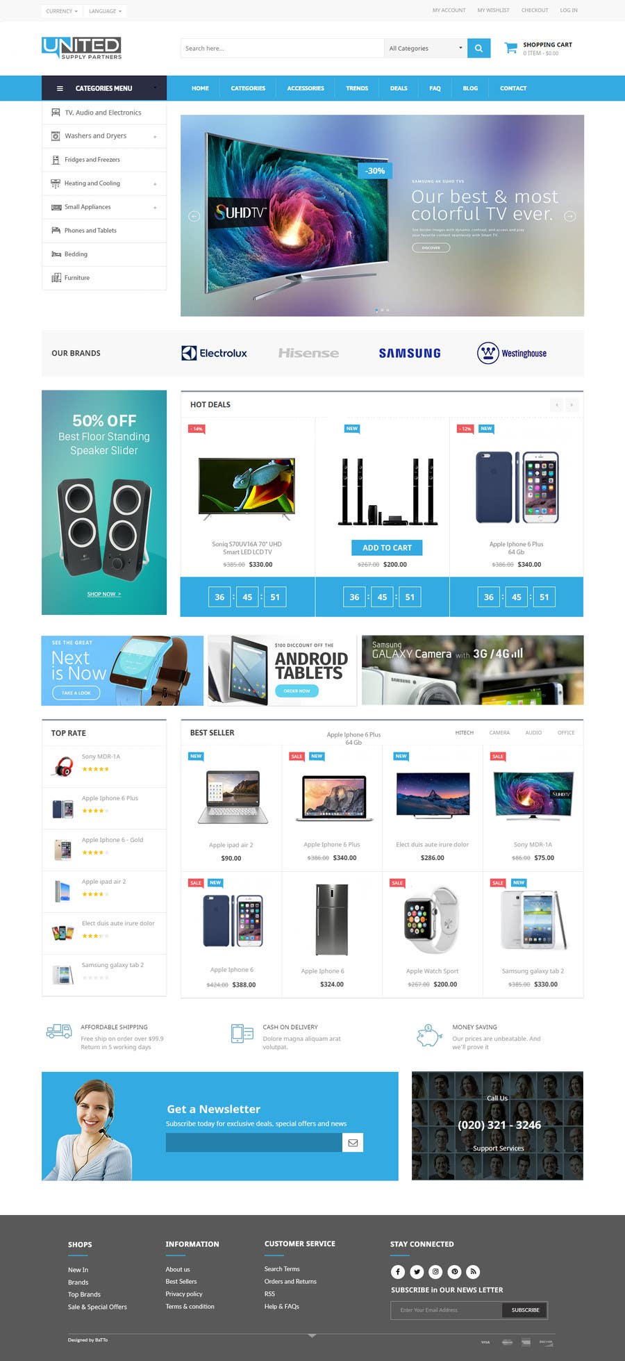 Proposition n°16 du concours Re-design teh layout to our website homepage