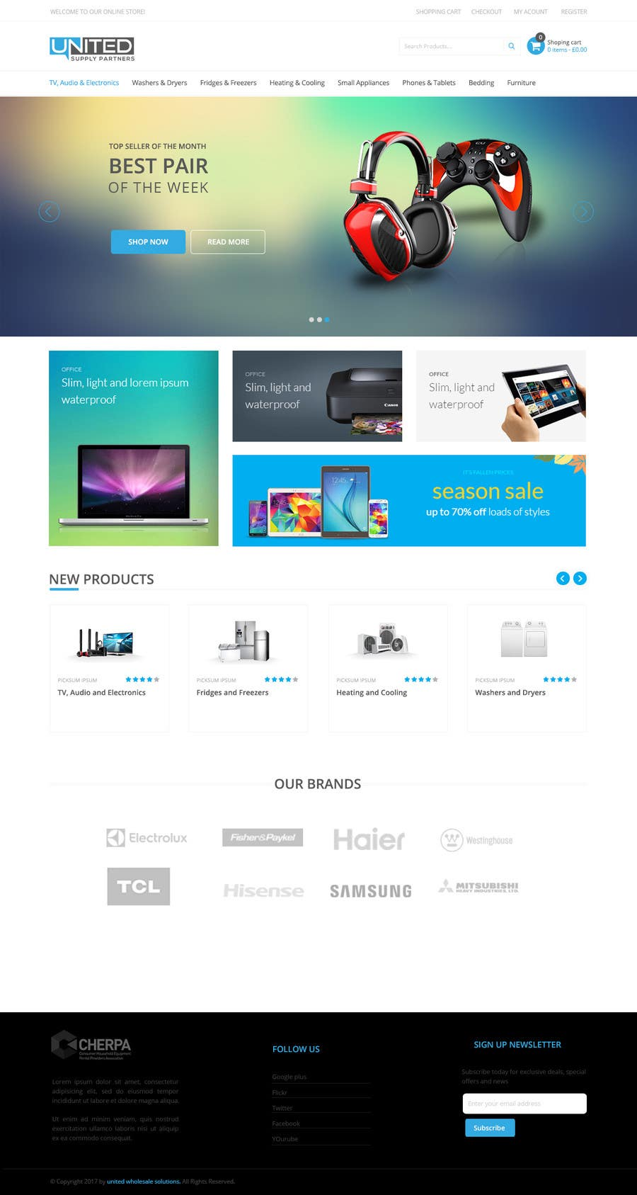 Proposition n°47 du concours Re-design teh layout to our website homepage