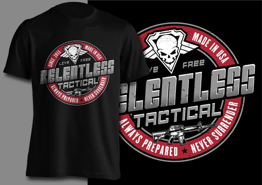 Proposition n°55 du concours Relentless Tactical is looking for cool T Shirt Designs!