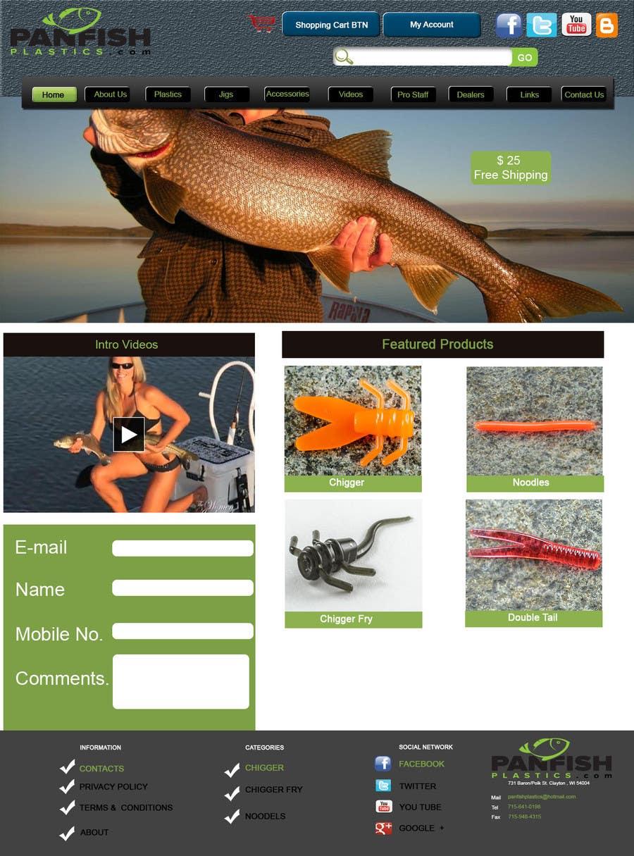 Penyertaan Peraduan #                                        9                                      untuk                                         Design a Website Mockup for ecommerce fishing store