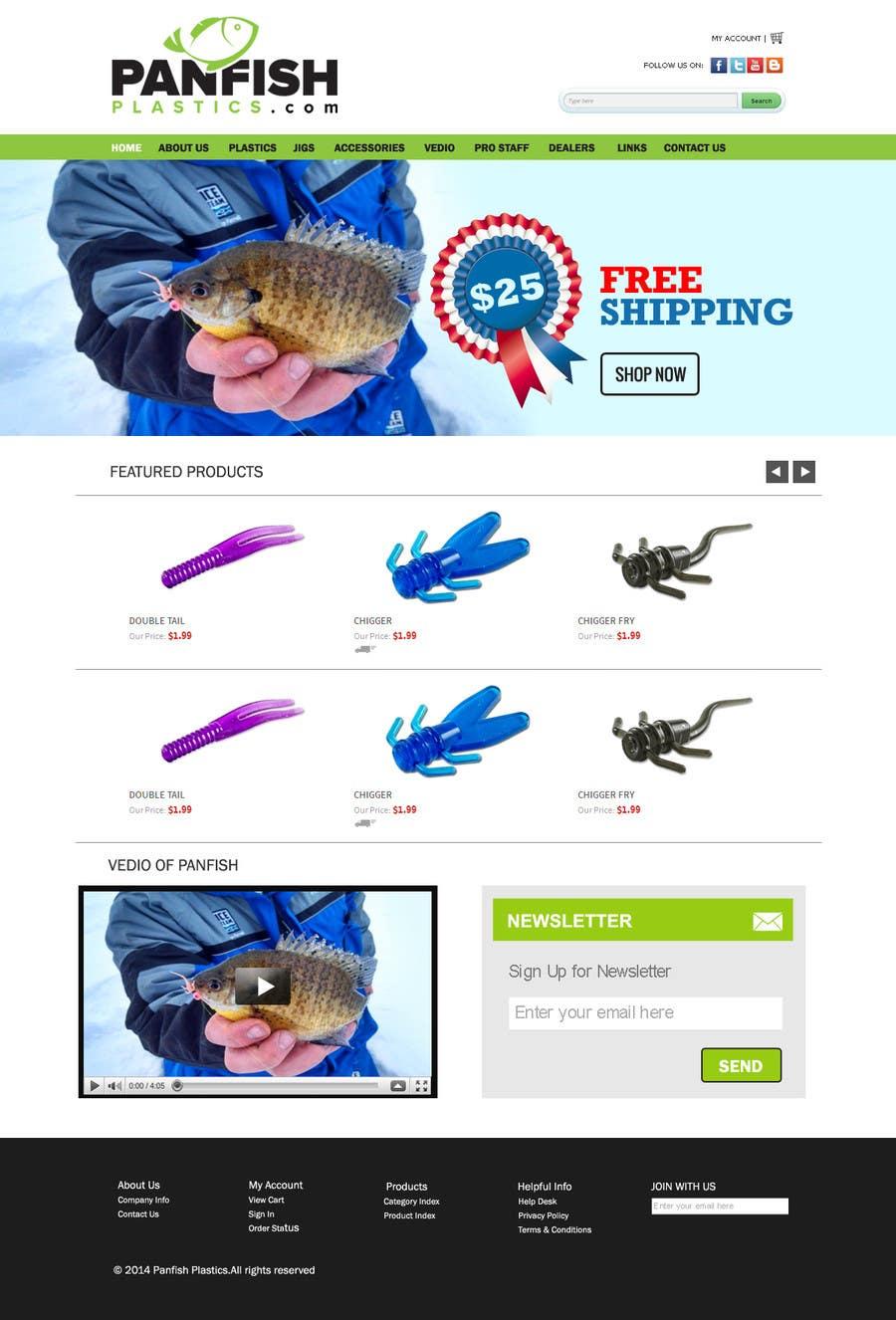 Penyertaan Peraduan #                                        17                                      untuk                                         Design a Website Mockup for ecommerce fishing store