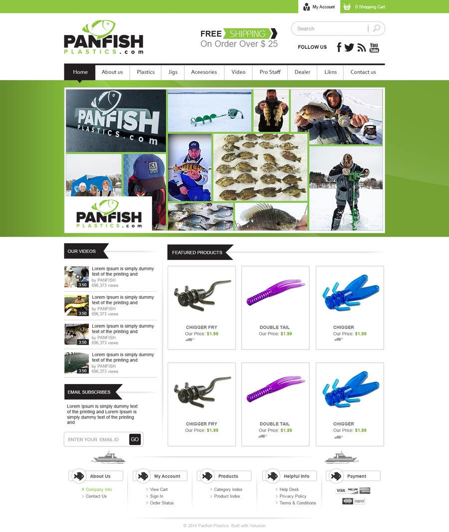 Penyertaan Peraduan #                                        13                                      untuk                                         Design a Website Mockup for ecommerce fishing store