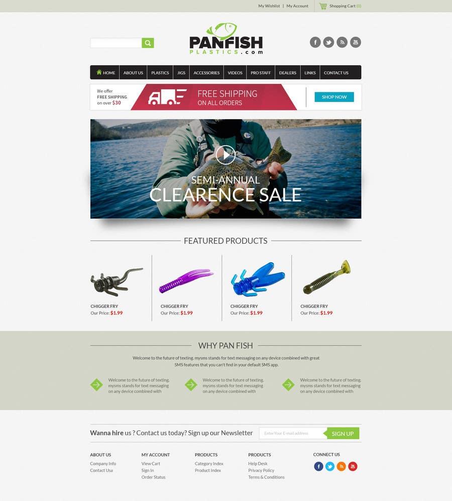 Penyertaan Peraduan #                                        19                                      untuk                                         Design a Website Mockup for ecommerce fishing store