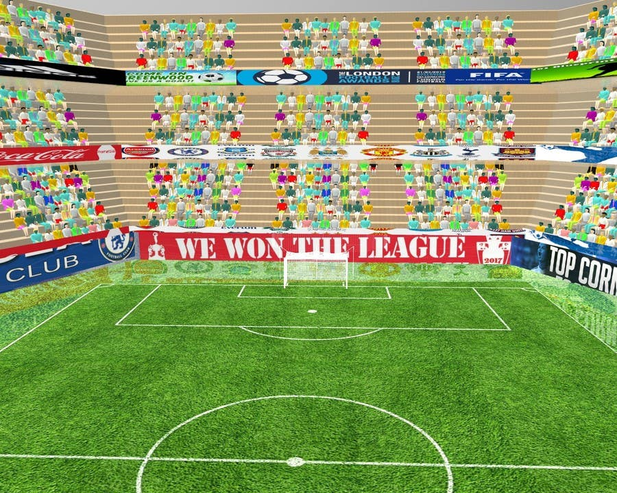 Proposition n°8 du concours Do some 3D Modelling - Create A 3d Half Football Stadium