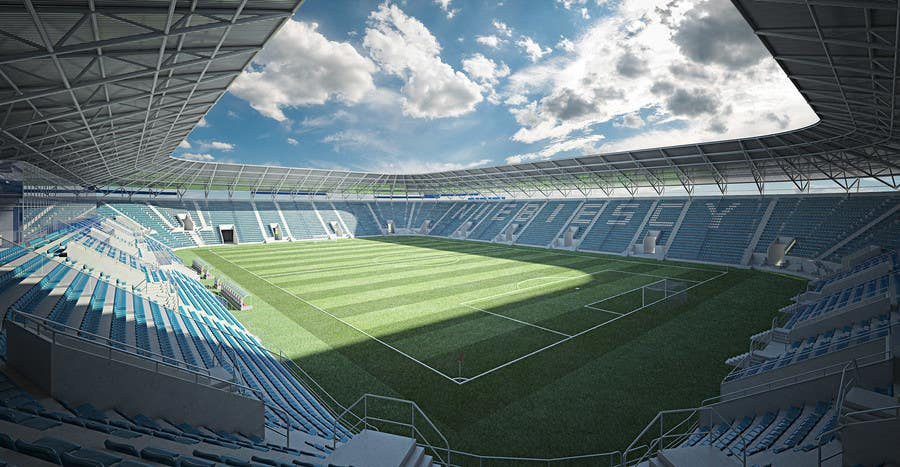 Proposition n°3 du concours Do some 3D Modelling - Create A 3d Half Football Stadium