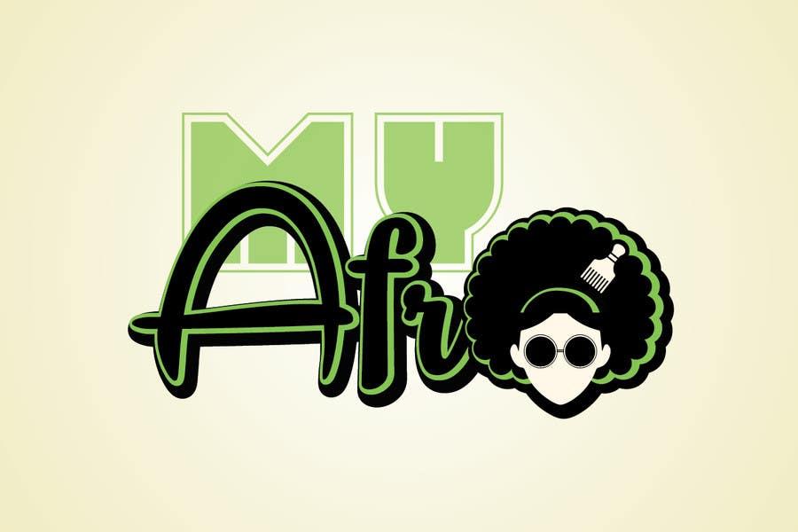 """Kilpailutyö #                                        12                                      kilpailussa                                         logo design for my """" MyAfro"""""""