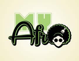 """Nro 12 kilpailuun logo design for my """" MyAfro"""" käyttäjältä kkryvoruchko"""