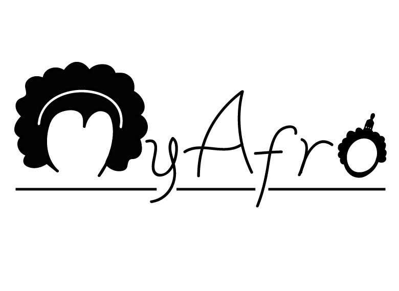 """Kilpailutyö #                                        24                                      kilpailussa                                         logo design for my """" MyAfro"""""""