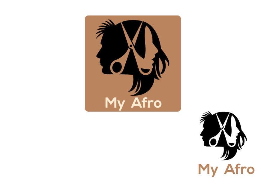 """Kilpailutyö #                                        45                                      kilpailussa                                         logo design for my """" MyAfro"""""""