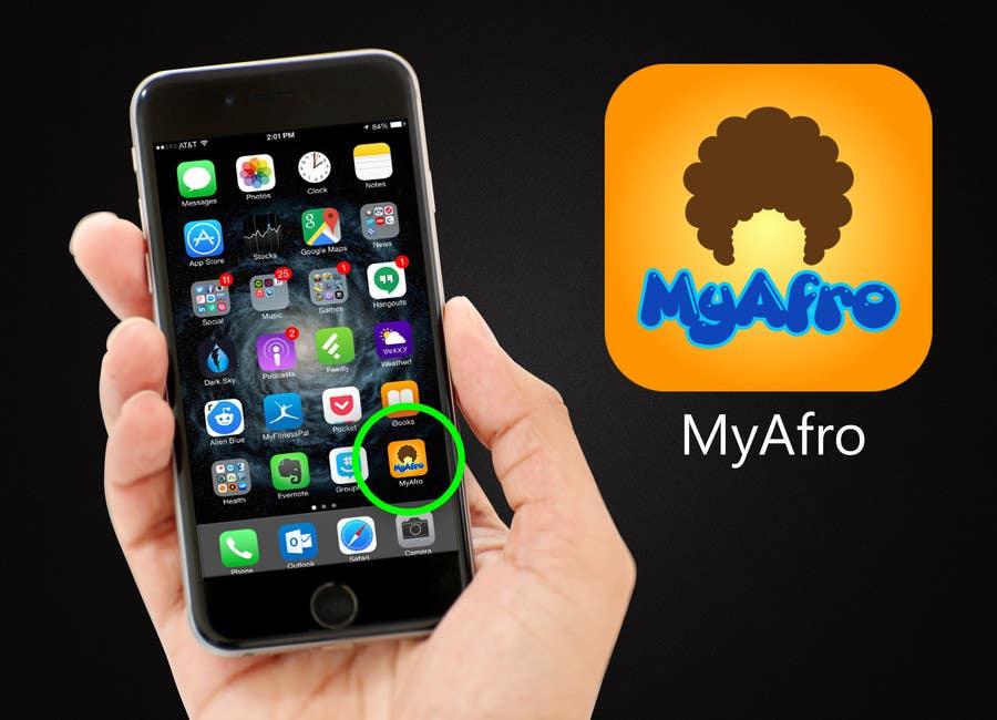 """Kilpailutyö #                                        35                                      kilpailussa                                         logo design for my """" MyAfro"""""""