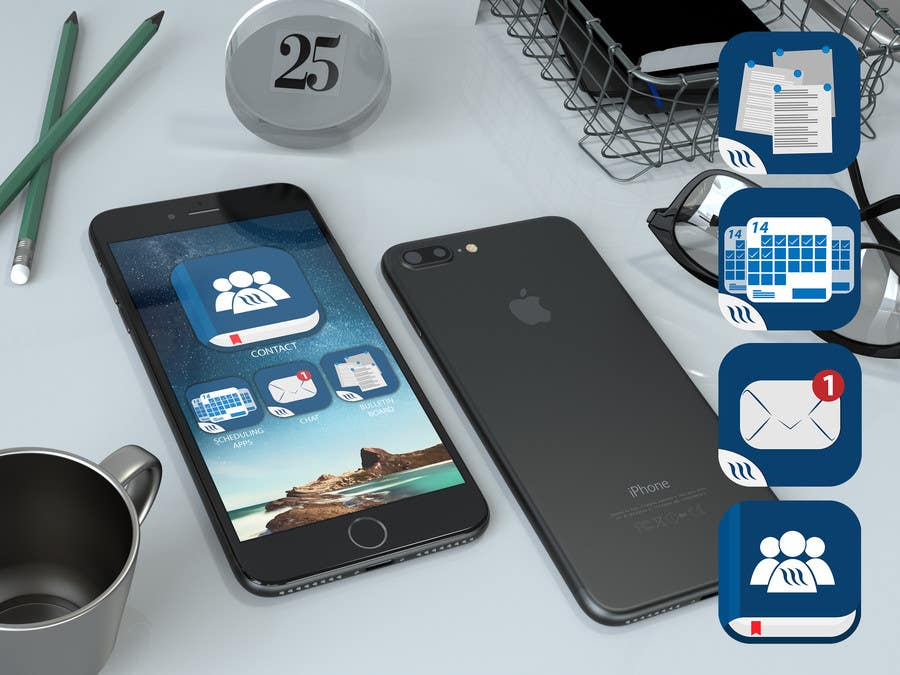 Proposition n°2 du concours 4 separate mobile app icons designs are needed