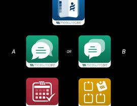 nº 32 pour 4 separate mobile app icons designs are needed par twotiims