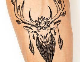 nº 11 pour Tattoo Design: Abstract Animal Theme (Preferably Blue Whale, Lion or Deer) par lpatsinashvili