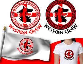 Nro 64 kilpailuun Wolf & Shield Design Logo for t-shirts, flags, mugs etc käyttäjältä mrjulius111