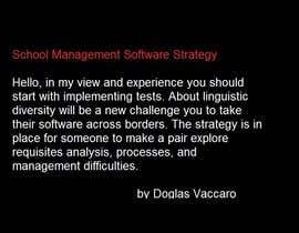 Nro 3 kilpailuun Strategy for introducing Education Software in new countries käyttäjältä doglasvaccaro