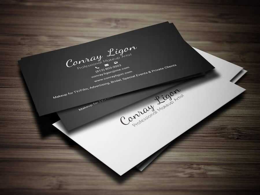 Proposition n°363 du concours Professional business card for male makeup artist.