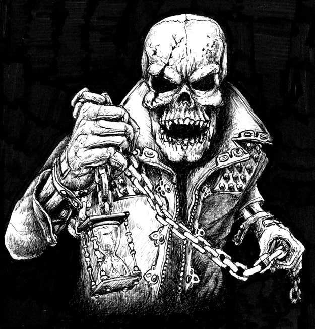 Kilpailutyö #                                        16                                      kilpailussa                                         Illustrate a Skull - Angry and Badass