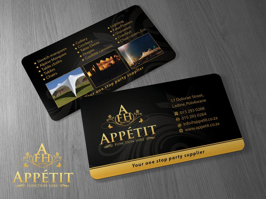 #55 for Business Card Design for Appétit Function Hire by Brandwar