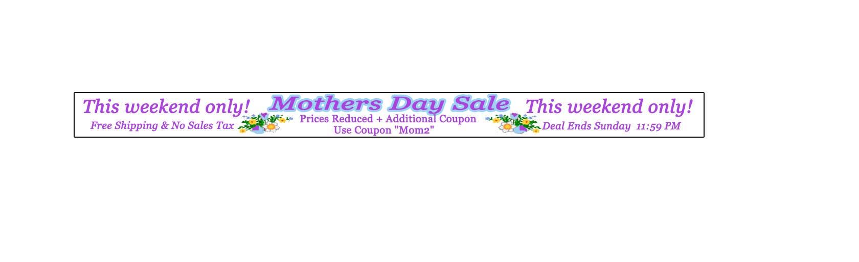 Kilpailutyö #19 kilpailussa Mothers Day sale
